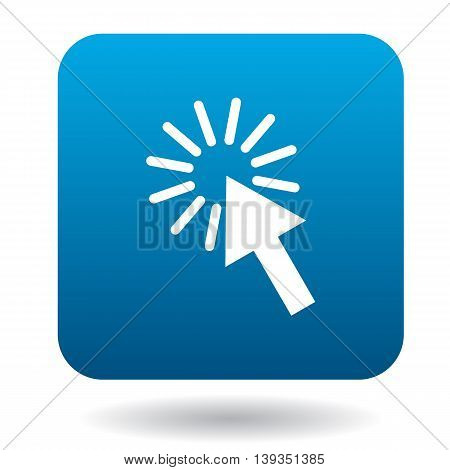 Computer mouse cursor icon in simple style on a white background