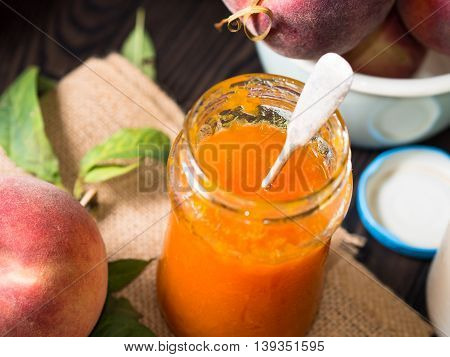 Peach Jam Closeup