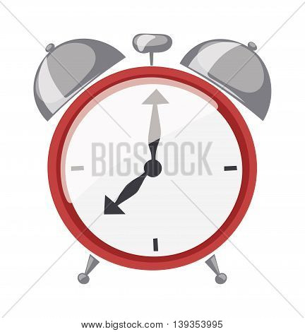 Clock watch alarm vector icon object illustration.