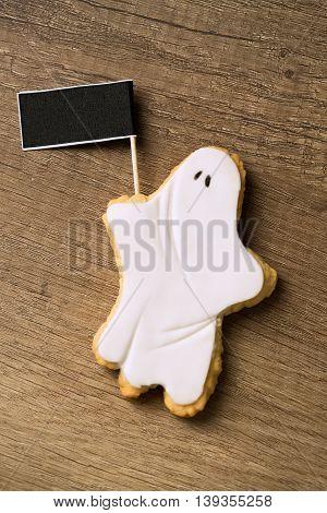 Halloween Ghost Homemade Gingerbread Cookies