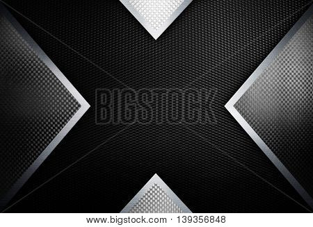 x design with metal mesh background
