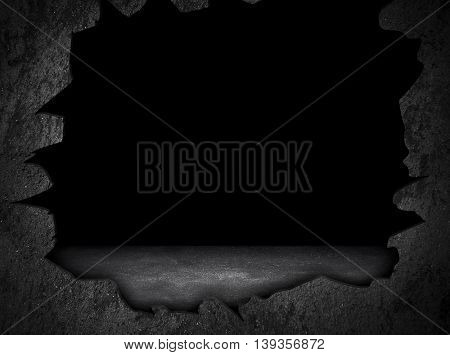 broken wall with hole background