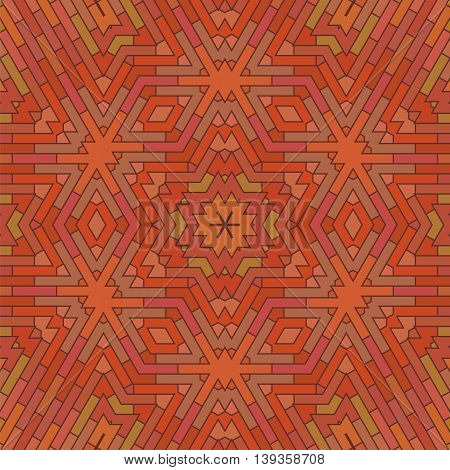 Ornamental Red Brick Background. Textured Stone Pattern