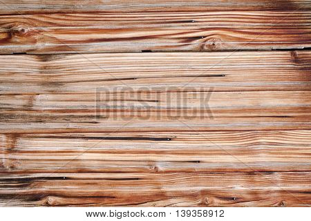 Wooden brown background with nodes, close up