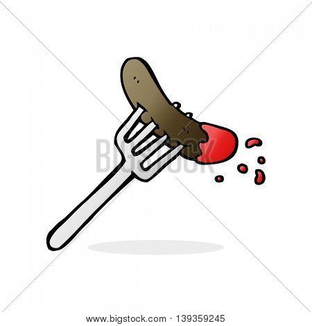 cartoon hotdog and ketchup