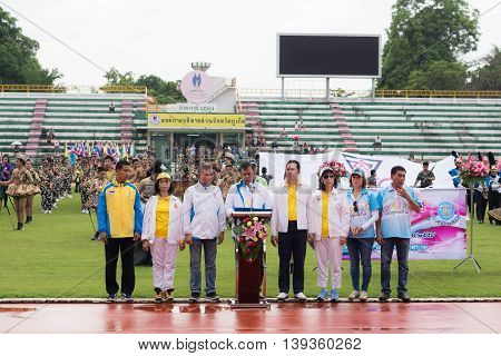 Phuket, Thailand - Jul 13 : Opening Ceremony Of Yearly Athletics Competition Of Anuban Phuket School