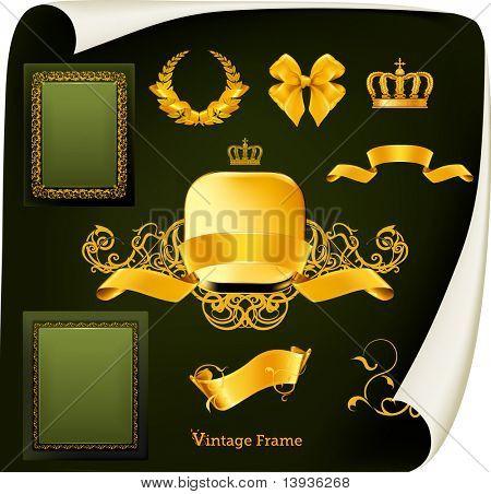 Vintage-Design-Elemente festlegen
