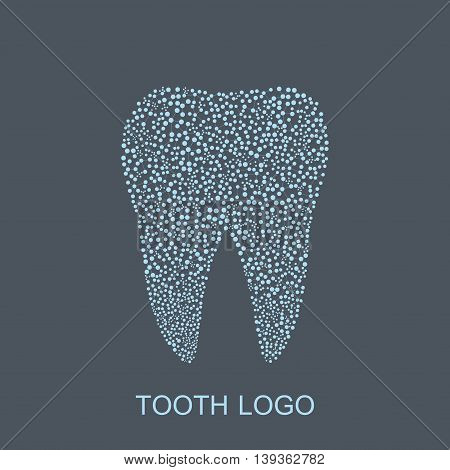 Tooth logo. Medical design. Dentist office icon. Vector illustration