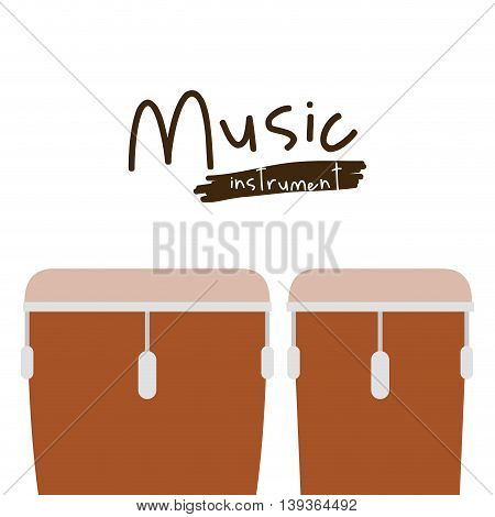 timbal instrument isolated icon design, vector illustration  graphic