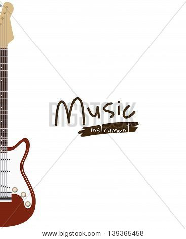 guitar electric isolated icon design, vector illustration  graphic