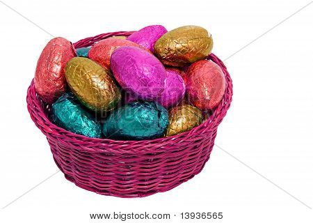 Shiny Easter Egg Pink Basket