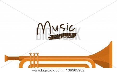 trumpet instrument isolated icon design, vector illustration  graphic