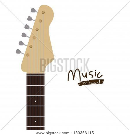 handle electric  guitar isolated icon design, vector illustration  graphic