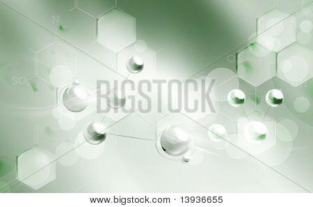 Molecules background, eps10