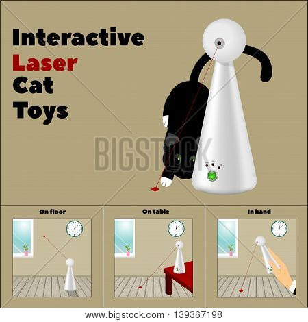 interactive laser toy and a description of its application in pictures