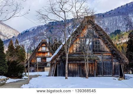 Historical Japanese Villages in winter Shirakawa-go japan