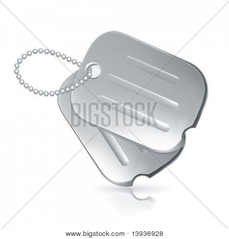 Military dog tags, bitmap copy