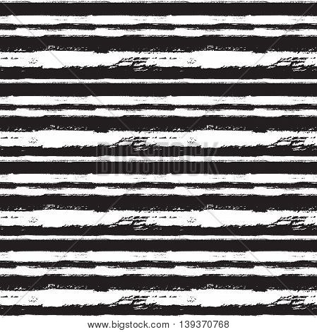 Vector seamless trendy modern brush stokes pattern. Messy ink dry brush line background. Black and white artistic print. Great for wrapping paper wallpaper