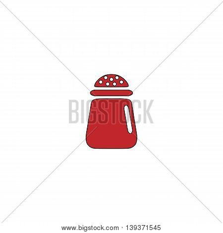 Salt or pepper - Vector icon isolated. Red flat simple modern illustration icon with stroke. Collection concept vector pictogram for infographic project and logo
