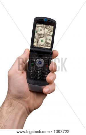Man Holding Cell Phone