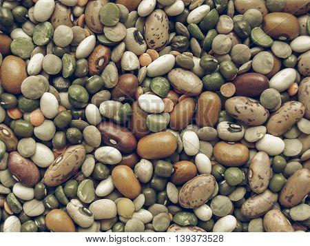 Beans Salad Vintage Desaturated