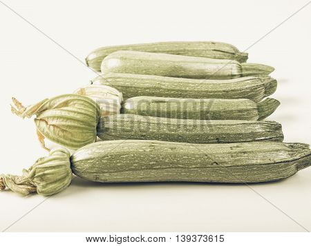 Courgettes Zucchini Vintage Desaturated