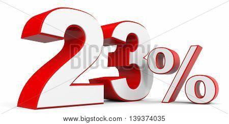 Discount 23 percent off sale. 3D illustration.