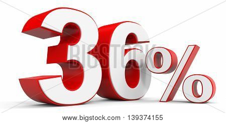 Discount 36 percent off sale. 3D illustration.