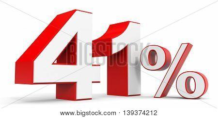 Discount 41 percent off sale. 3D illustration.
