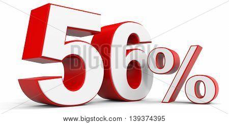 Discount 56 percent off sale. 3D illustration.