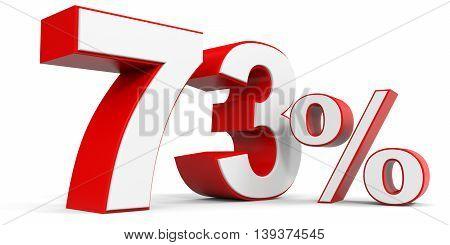Discount 73 percent off sale. 3D illustration.