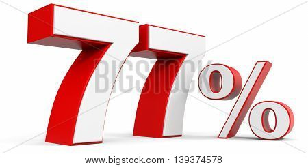 Discount 77 percent off sale. 3D illustration.