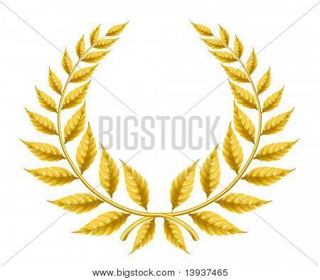 Golden wreath, eps10