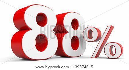 Discount 88 percent off sale. 3D illustration.
