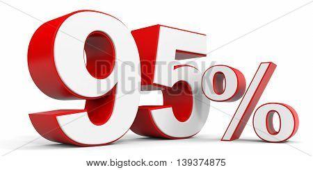 Discount 95 percent off sale. 3D illustration.