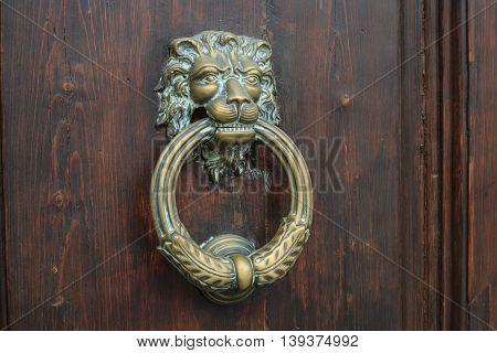 Vintage door handles, Piazza Della Signoria, Florence, Italy