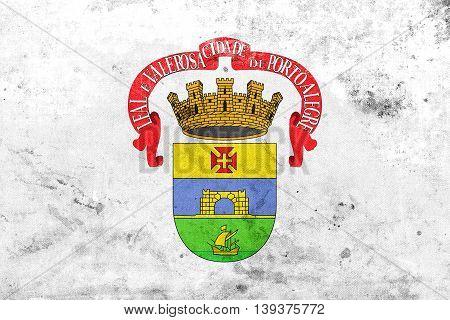 Flag Of Porto Alegre, Rio Grande Do Sul, Brazil, With A Vintage