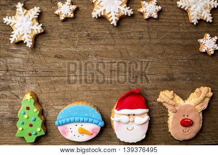 Festive Cookies With Snowflakes
