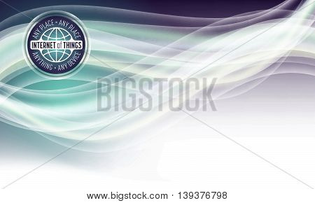 Vector abstract background with the words internet of things