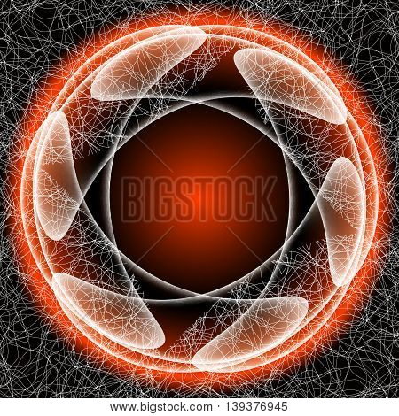 Vector abstract object with white transparent shapes