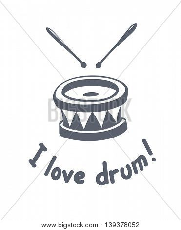 Drum music instrument vector illustration tattoo art musical hobby