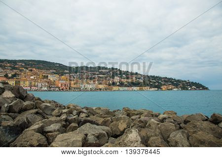 View of the city of Porto Santo Stefano from Pier