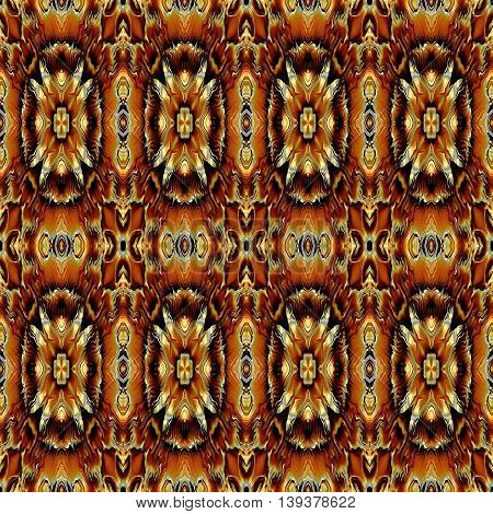 Abstract decorative multicolor (brown, gold) texture - kaleidoscope pattern