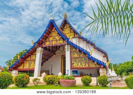 Wat Phra Borom That Thung Yang temple in Uttaradit, Thailand.