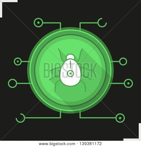 Computer virus color icon. Malware symbol. Trojan vector isolated illustration