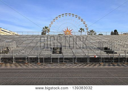 Temporary Metal Stands for Festival in Nice