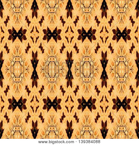 Abstract decorative multicolor (light and dark brown) texture - kaleidoscope pattern
