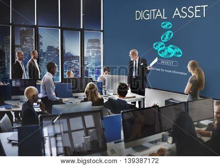 Digital Asset Data Information Value Electronic Concept