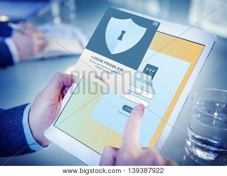 Security Register Account Apply Concept