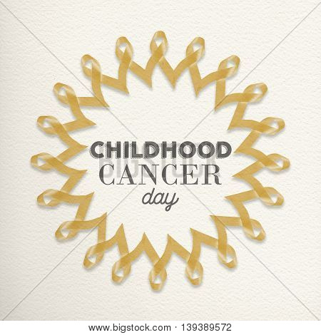 Child Cancer Day Mandala Made Of Ribbons